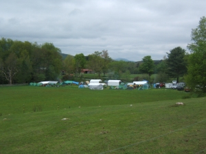 Boy Scouts Camping in Pond Field