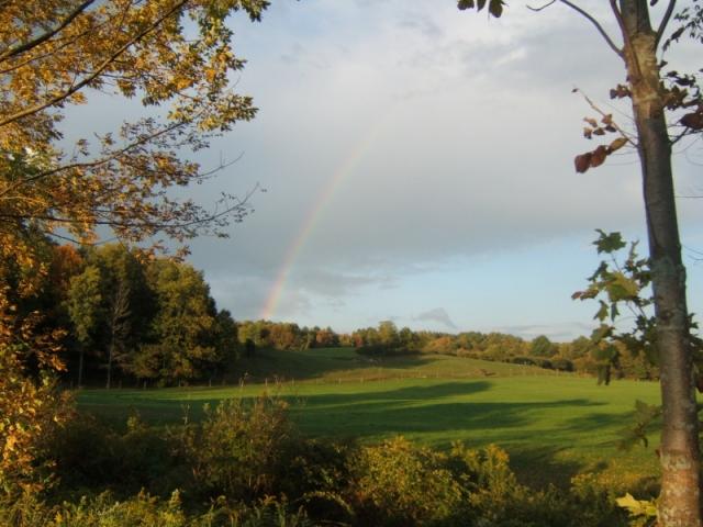 Rainbow over Cooper Meadow