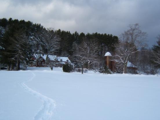 Farm Cottage after Snowstorm